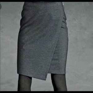 Cabi faux wrap skirt
